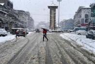 Kashmir Valley Receives Season's First Snowfall On Monday