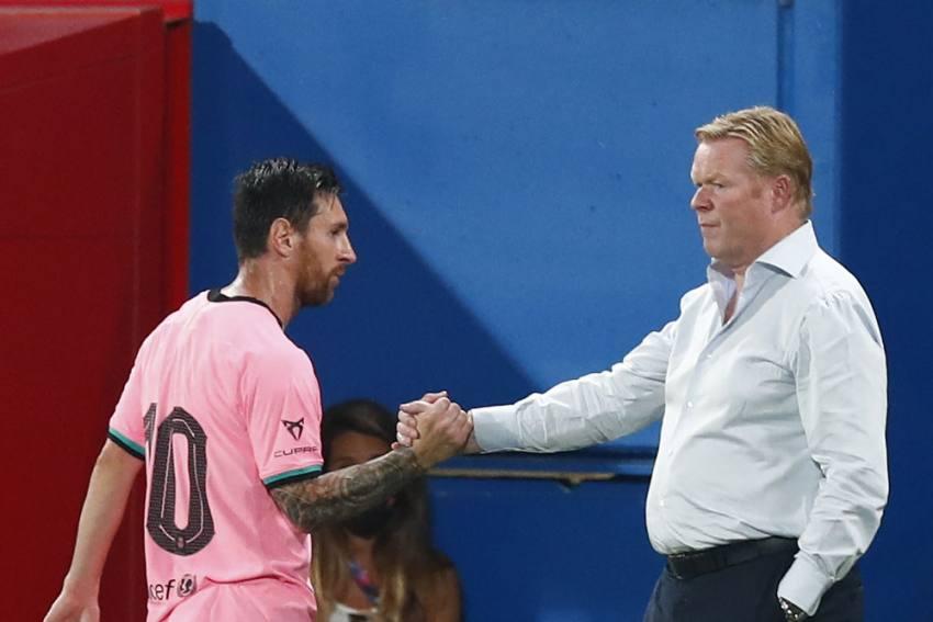 Barcelona Coach Ronald Koeman Leaves Captain Lionel Messi Out Of Champions League Squad