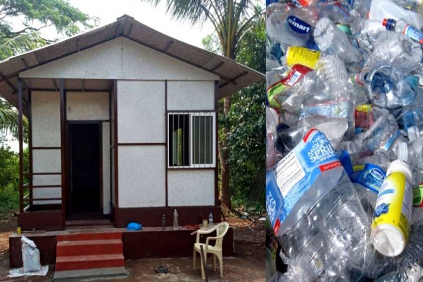 Karnataka Waste Collector Builds Eco-Friendly House Made From 100% Recycled Plastic