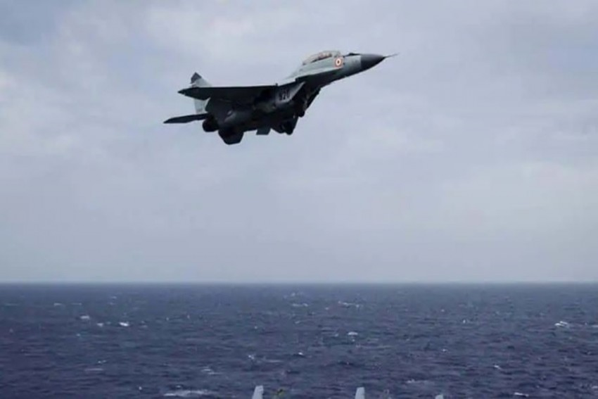 Indian Navy's MiG-29K Trainer Jet Crashes Into Sea, One Pilot Saved, Another Missing