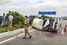 Four People Killed As Innova Rams Into Roadways Bus In Greater Noida