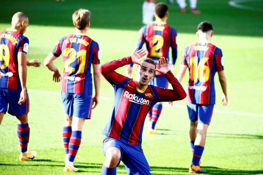 Barcelona 4-0 Osasuna: Antoine Griezmann Shines As Lionel Messi Pays Tribute To Maradona