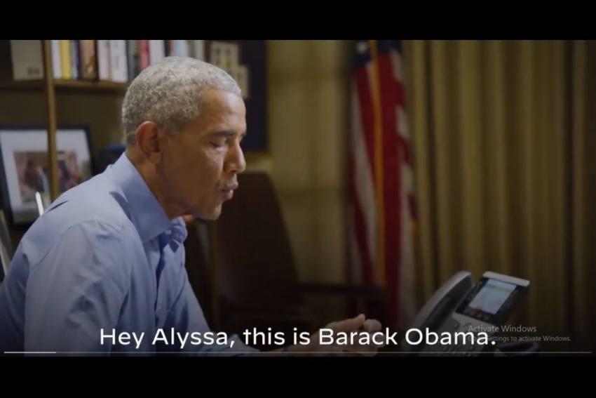 US Polls 2020: 'Hey Jacks...' When A Baby Interrupts Barack Obama's 'Phone Banking'