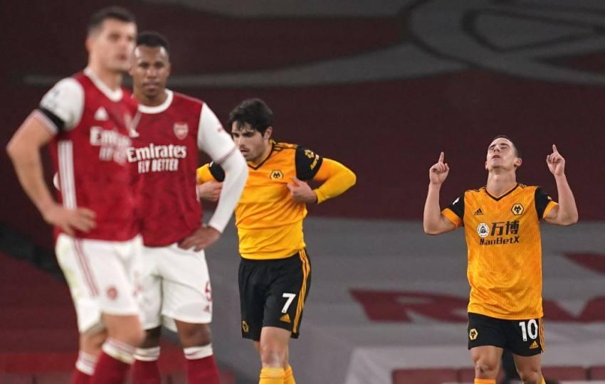 EPL: Wolves 2-1 Win Deepens Arsenal's Misery Amid Raul Jimenez Head Injury