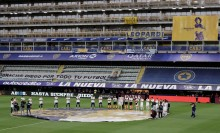 Boca Juniors Players In moving Maradona Tribute To Legend's Daughter