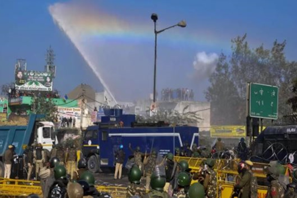 Using Water Cannons On Farmers Amid Cold Wave Cruel: Shiv Sena