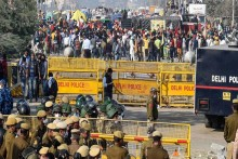 Concrete Barriers At Delhi-Ghaziabad Border Point As More Join Farmers' Protest