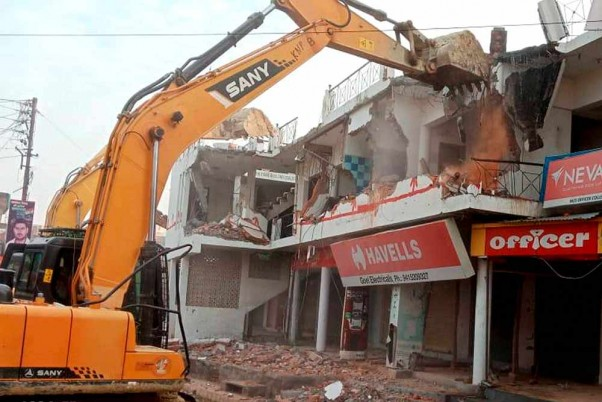 Illegal Building Of BSP MLA Mukhtar Ansari's Aides Demolished In UP