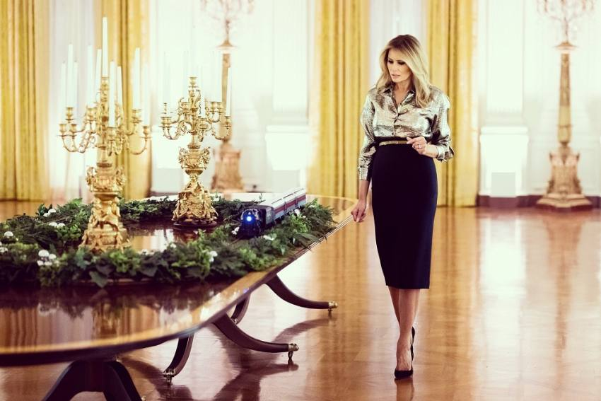 Melania Trump Unveils White House Christmas Decor On 'America The Beautiful' Theme
