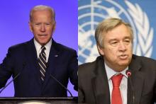 Joe Biden, UN Chief Discuss Strengthening Partnership On Urgent Global Issues
