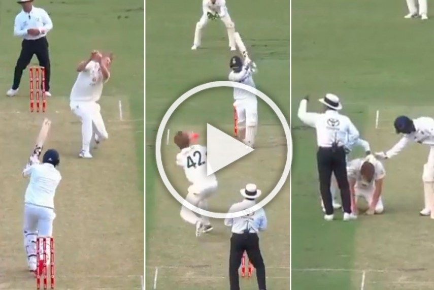 Aus Vs Ind Another Australian Suffers Concussion As Cameron Green Cops Jasprit Bumrah S Full Blooded Drive Video