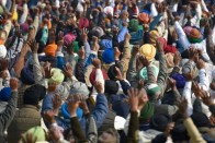 Amid Karnal Protests, Farmers In Noida Sit In Demanding Release Of Arrested Protesters