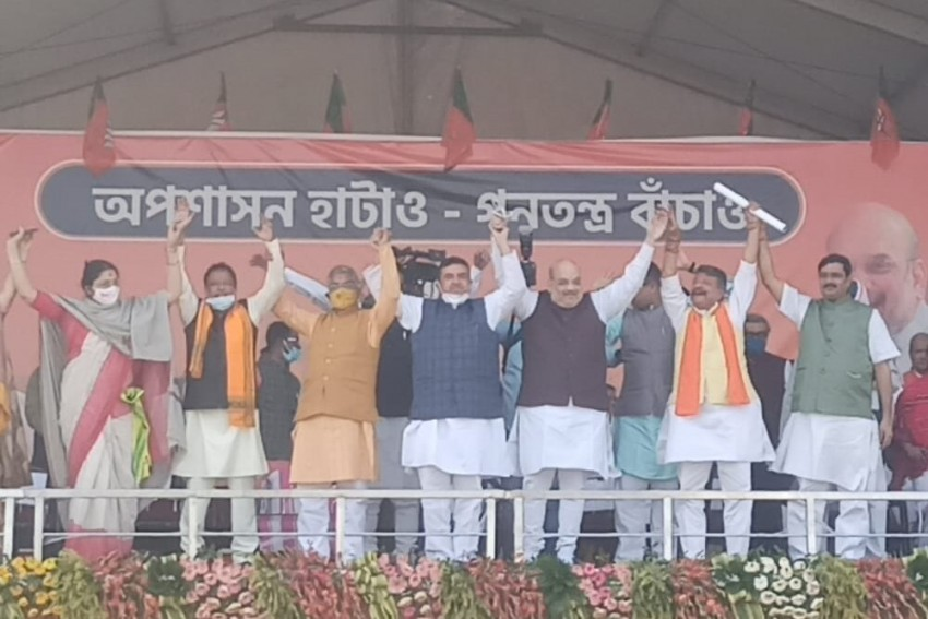 You'll Be Left All Alone, Amit Shah Tells Mamata As Suvendu Adhikari Joins BJP