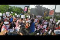 AAP's Women Wing Forms Human Chain In Solidarity With Protesting Farmers