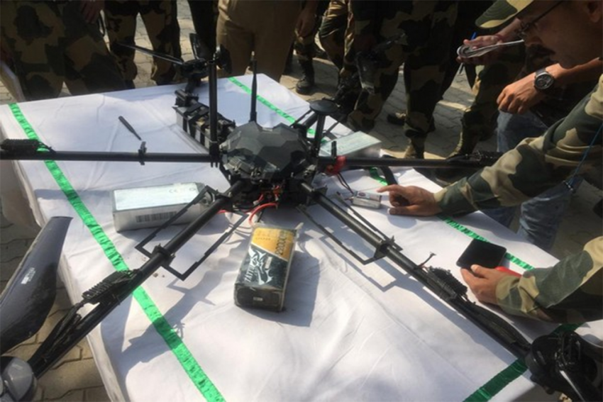 Police Recover 11 Grenades Allegedly Dropped By Pakistani Drone Near International Border