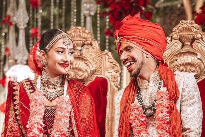 India Cricketer Yuzvendra Chahal Ties The Knot With Ladylove Dhanashree Verma - In Pics