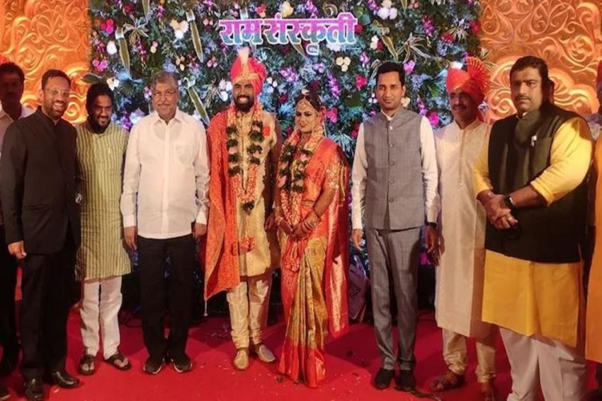 Covid Norms Go For A Toss At BJP MLA's Wedding In Maharashtra; Check Pics