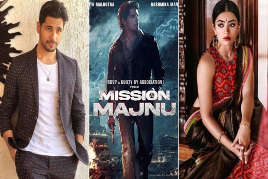 Sidharth Malhotra, Rashmika Mandanna To Feature In 'Mission Manju'