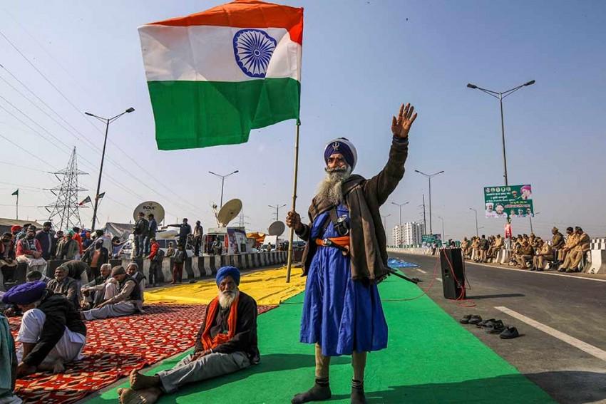 Samyukta Kisan Morcha Take Out 'Tiranga' Rallies To Mark 75th Independence Day