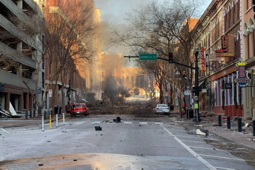 Watch: Explosion Rattles Downtown Nashville, Three Injured
