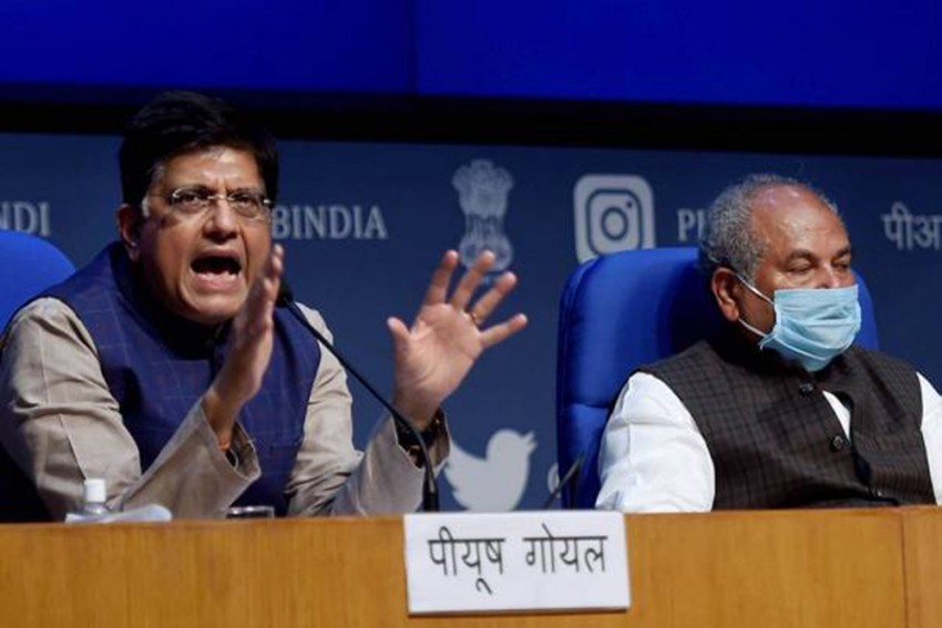 Ahead Of Talks With Farmers, Union Ministers Tomar, Goyal Meet Amit Shah