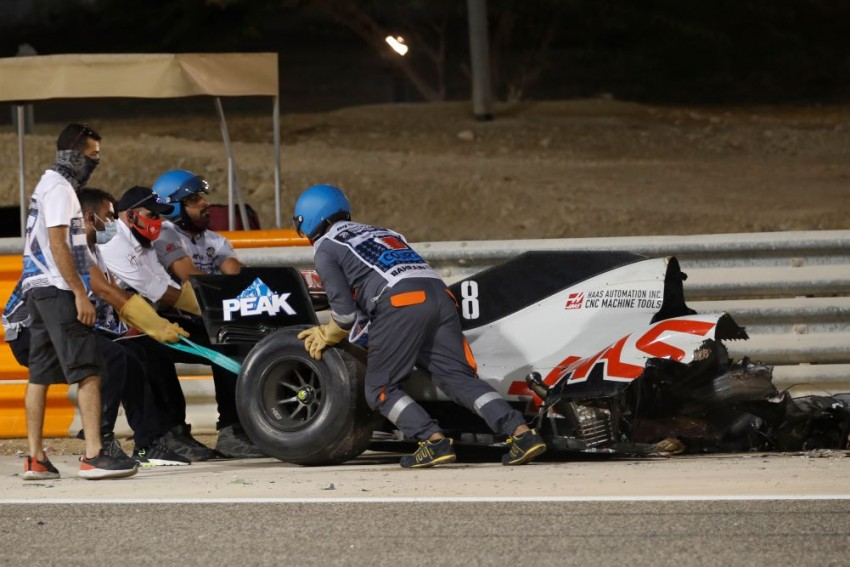 F1: Investigation Opened Into Romain Grosjean's Crash