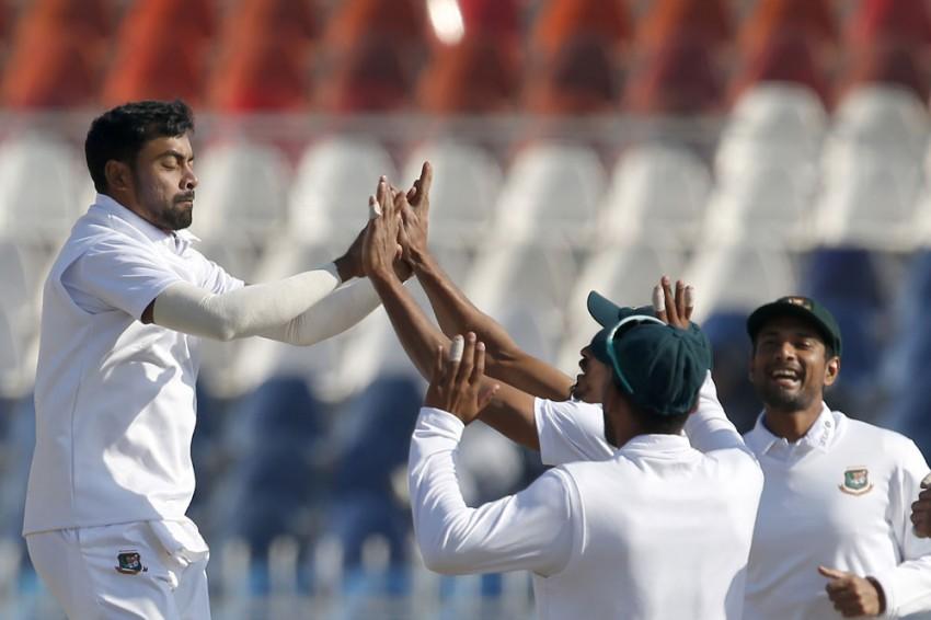 PAK Vs BAN, 1st Test: Bangladesh Pacer Abu Jayed Reprimanded For Aggressive Celebration