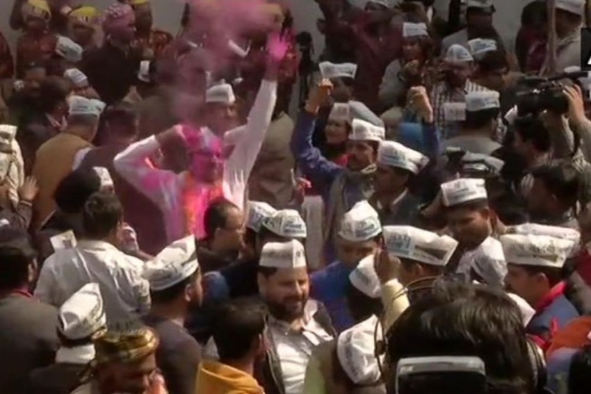 'People Have Rejected BJP': Parties, Politicians React To AAP's Performance In Delhi Election
