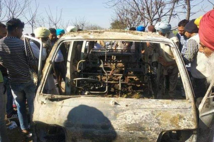 Punjab: Four Children Burnt Alive As School Van Catches Fire