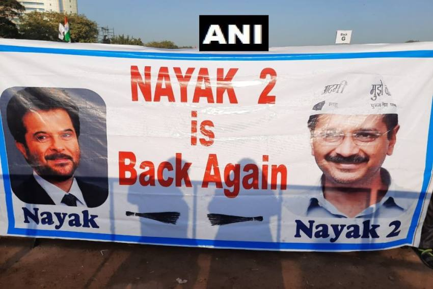 'Nayak 2 Is Back Again': Filmy Poster At Arvind Kejriwal's Oath Ceremony