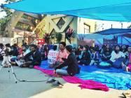 Assam University Remains Shut As Students Protest Against Research Scholar's Rustication