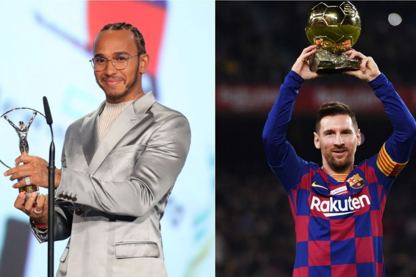 Lionel Messi, Lewis Hamilton Share Laureus World Sportsman Of The Year Award