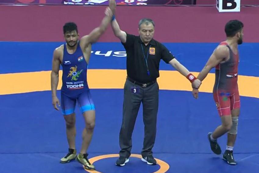 Asian Wrestling Championships: India's Ashu, Aditya Win Bronze Medals In Greco-Roman Categories