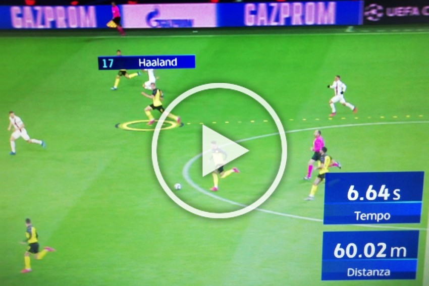 Erling Haaland Sprints 60m In World Championship Time During Borussia Dortmund Vs PSG Match – WATCH