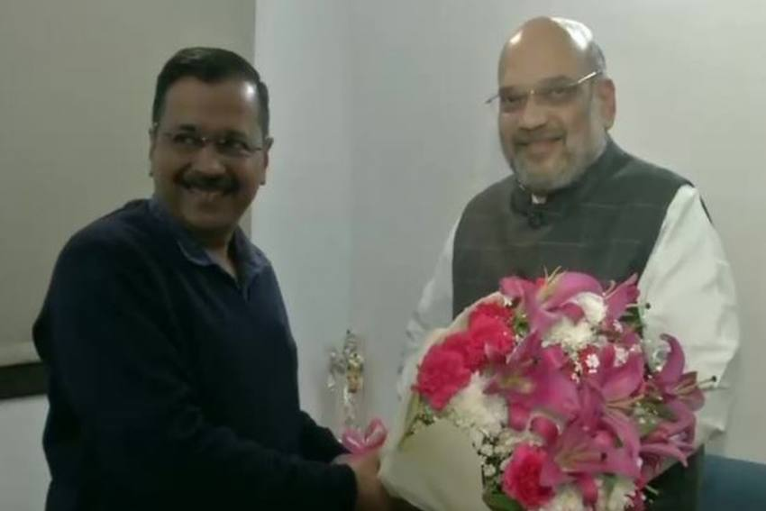 'Will Work Together For Development,' Says Arvind Kejriwal After Meeting Amit Shah