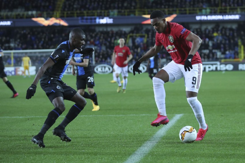 Europa League | Club Brugge 1-1 Manchester United: Anthony Martial Away Goal Gives Red Devils The Edge
