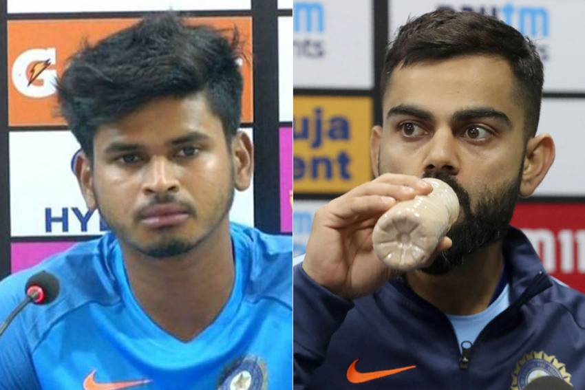 NZ Vs IND, 1st Test: Shreyas Iyer Takes Epic Jibe At Virat Kohli Soon After Skipper's Cheap Dismissal