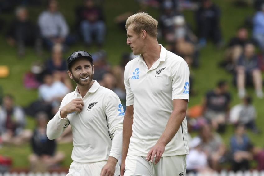 NZ Vs IND, 1st Test, Day 1 Highlights: Rain Plays Spoilsport After Kyle Jamieson Show