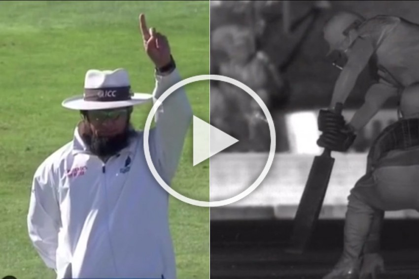 NZ Vs IND, 1st Test: Mayank Agarwal Given Out For 'Hitting The Ground' - WATCH And You Be The Judge - VIDEO