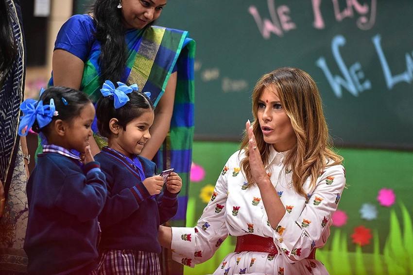 US First Lady Melania Trump Visits Delhi School, Attends 'Happiness Class'