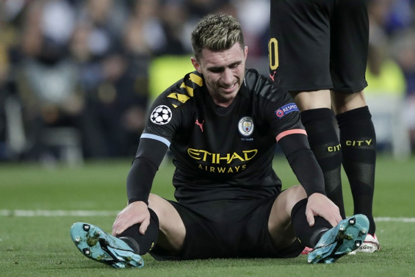 Manchester City's Aymeric Laporte Out For Up To Four Weeks And Will Miss Real Madrid Visit