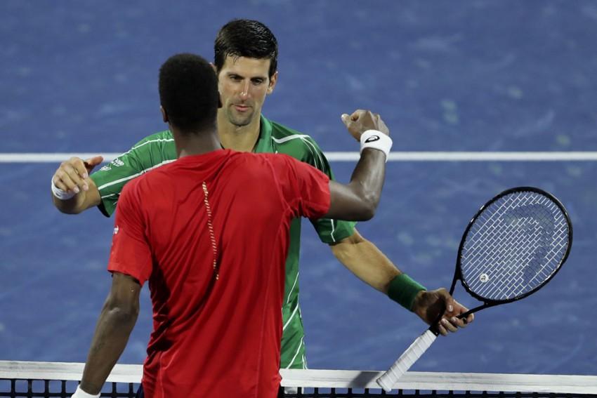 Dubai Tennis Championships Novak Djokovic Battles Past Gael Monfils To Set Up Stefanos Tsitsipas Final