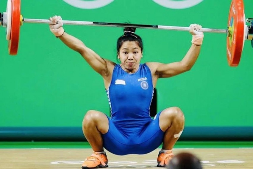 Saikhom Mirabai Chanu Betters Her Own National Record, Lifts 203kg To Win Gold