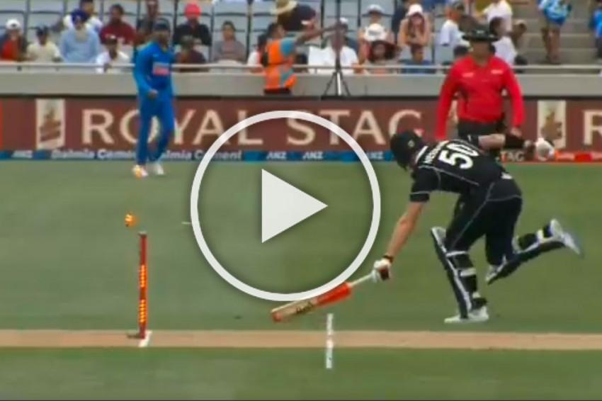 NZ Vs IND, 2nd ODI: Jimmy Neesham Pays The Price For Taking On Sensational Ravindra Jadeja - WATCH