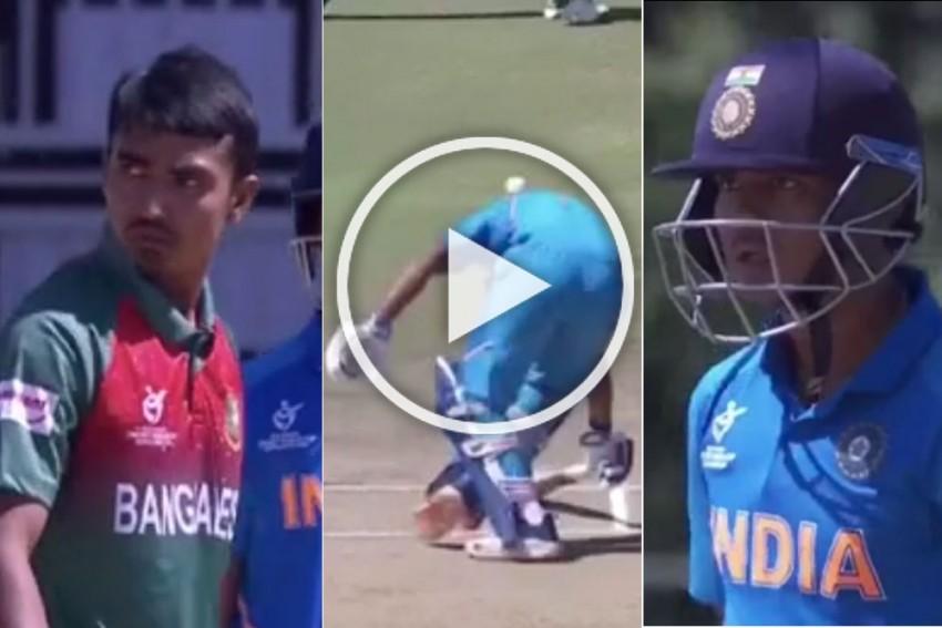 IND Vs BAN, ICC U-19 World Cup Final: Tanzim Hasan Sakib's Dangerous Throw Infuriates Divyansh Saxena - WATCH