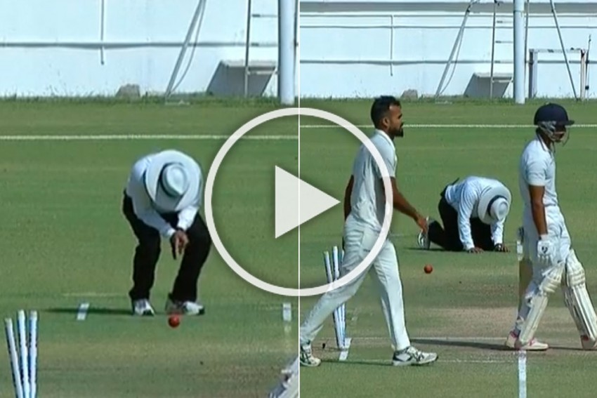 Ranji Trophy Final: Umpire Does Double Duty In Bengal Vs Saurashtra Clash After Strange Injury To Partner - WATCH