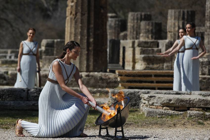 Flame For 2020 Tokyo Olympics Lit In Greece Amid Coronavirus Lockdown