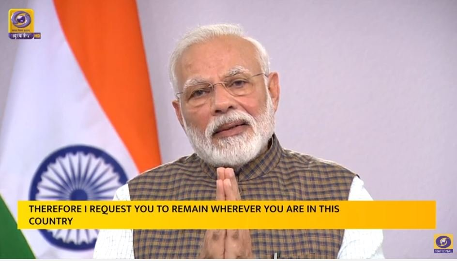 Coronavirus Outbreak: Complete Nationwide Lockdown For 21 Days From Tonight, Announces PM Modi