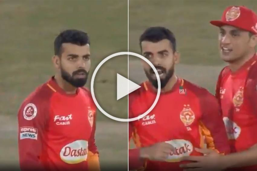 PSL: Shadab Khan Scolds Rizwan Hussain For Throwing At Wrong End, What Happens Next Is Epic - WATCH