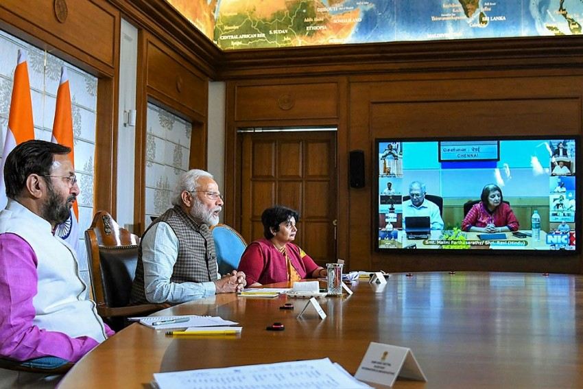 PM Modi Holds Video-conference With 130 Indian Missions Abroad On Coronavirus